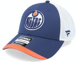 Edmonton Oilers Locker Room Athl Navy Trucker - Fanatics