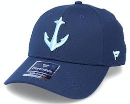 Seattle Kraken Secondary Logo Structured Adjustable - Fanatics