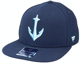 Seattle Kraken Core Secondary Logo Navy Snapback - Fanatics