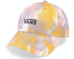 Womens Court Side Printed Hat Golden Tie Dye Dad Cap - Vans