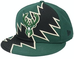 Milwaukee Bucks 9Fifty All-Star Game Tear Dark Green/Black Snapback - New Era