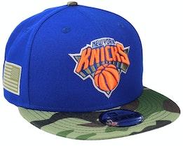 New York Knicks 9Fifty All-Star Game Camo Blue Snapback - New Era