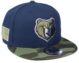 Memphis Grizzlies 9Fifty All-Star Game Camo Navy Snapback - New Era