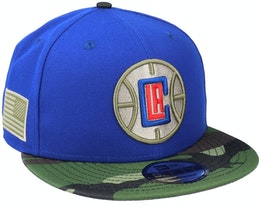 LA Clippers 9Fifty All-Star Game Camo Blue Snapback - New Era