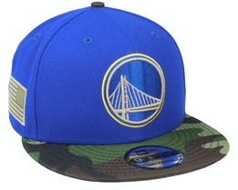 Golden State Warriors 9Fifty All-Star Game Camo Blue Snapback - New Era