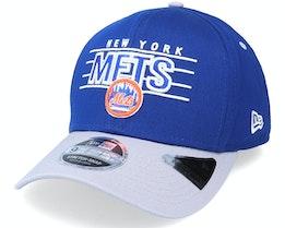 New York Mets Team Wordmark 9Fifty Royal/Grey Adjustable - New Era