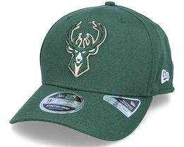 Milwaukee Bucks Team Colour 9Fifty Green Adjustable - New Era