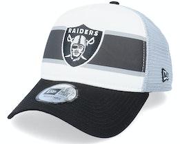 Las Vegas Raiders Retro White/Black/Grey Trucker - New Era