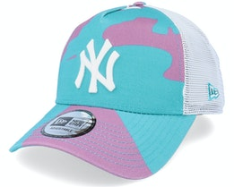 New York Yankees Camo Pack Teal Camo Trucker - New Era