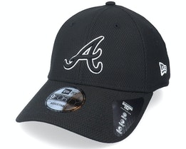 Atlanta Braves Alt Team Diamond Era 9FORTY Black Adjustable - New Era