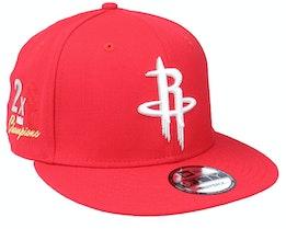 Houston Rockets 9Fifty NBA Paisley Undervisor Scarlet Snapback - New Era