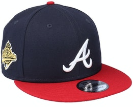 Atlanta Braves 9Fifty MLB Paisley Undervisor Navy/Red Fitted - New Era
