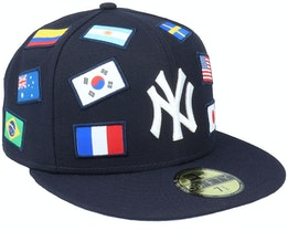 New York Yankees 59Fifty MLB Flag Navy Fitted - New Era