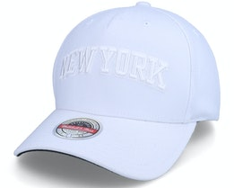 New York Knicks White Out Stretch White Adjustable - Mitchell & Ness