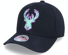 Milwaukee Bucks Nitro Wave Red Black Adjustable - Mitchell & Ness