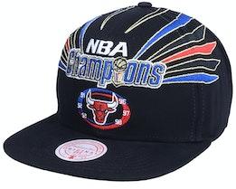 Chicago Bulls 98 Bulls Champions Hwc Black Strapback - Mitchell & Ness