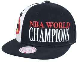 Houston Rockets 75Th Canal World Champ Hwc Black Snapback - Mitchell & Ness