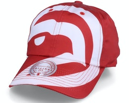 Atlanta Hawks Full On Strapback Hwc Red Dad Cap - Mitchell & Ness