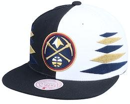 Denver Nuggets Diamond Cut Black/White Snapback - Mitchell & Ness