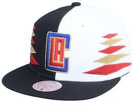 Los Angeles Clippers Diamond Cut Black/White Snapback - Mitchell & Ness