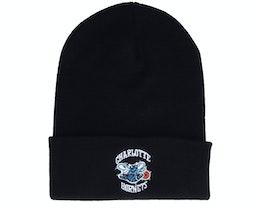 Charlotte Hornets Hwc Team Logo Knit Black Cuff - Mitchell & Ness