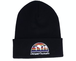 Denver Nuggets Hwc Team Logo Knit Black Cuff - Mitchell & Ness