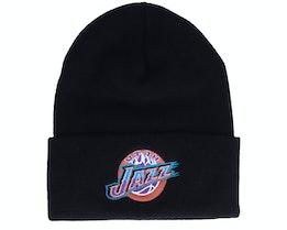 Utah Jazz Hwc Team Logo Knit Black Cuff - Mitchell & Ness