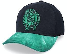 Boston Celtics Tie Dye Black/Green Adjustable - Mitchell & Ness