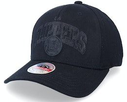 Los Angeles Clippers Black Out Arch Black Adjustable - Mitchell & Ness