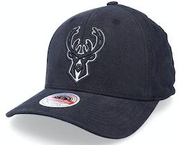 Milwaukee Bucks Overwased Metallic Black Adjustable - Mitchell & Ness