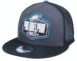 Philadelphia Eagles 9Fifty NFL21 Draft Dark Grey/Black Trucker - New Era