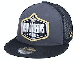 New Orleans Saints 9Fifty NFL21 Draft Dark Grey/Black Trucker - New Era