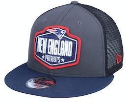 New England Patriots 9Fifty NFL21 Draft Dark Grey/Navy Trucker - New Era