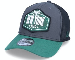 New York Jets 39Thirty NFL21 Draft Dark Grey/Green Flexfit - New Era