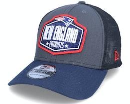 New England Patriots 39Thirty NFL21 Draft Dark Grey/Navy Flexfit - New Era