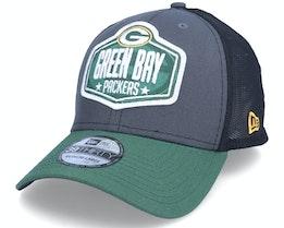 Green Bay Packers 39Thirty NFL21 Draft Dark Grey/Black Flexfit - New Era