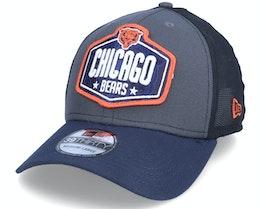 Chicago Bears 39Thirty NFL21 Draft Dark Grey/Navy Flexfit - New Era