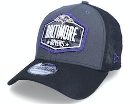 Baltimore Ravens 39Thirty NFL21 Draft Dark Grey/Blue Flexfit - New Era