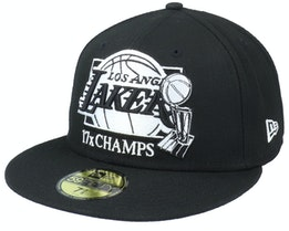 Los Angeles Lakers 59Fifty Nba20 Multi Champs Black Fitted - New Era