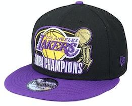 Los Angeles Lakers 9Fifty NBA20 Multi Champs OTC Black/Purple Snapback - New Era