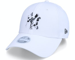 New York Yankees Womens Camo Infill 9FORTY White/Camo Adjustable - New Era