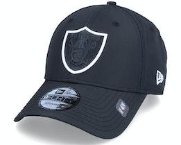 Las Vegas Raiders Two Tone 9FORTY Black Adjustable - New Era
