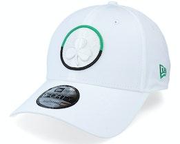 Boston Celtics Two Tone 9FORTY White Adjustable - New Era