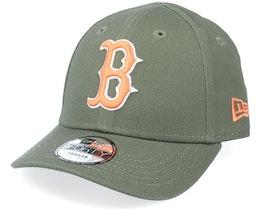 Kids Boston Red Sox Toddler League Essential 9FORTY Olive/Orange Adjustable - New Era