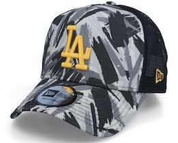 Los Angeles Dodgers Seasonal Camo Recreated 9FORTY A-Frame Grey Camo/Black Trucker - New Era