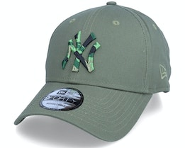 New York Yankees Camo Infill 9FORTY Olive Adjustable - New Era