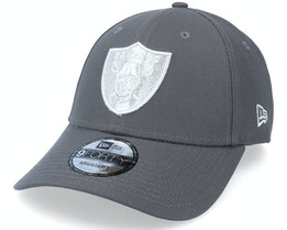 Las Vegas Raiders Pop Logo 9FORTY Grey Adjustable - New Era
