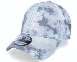Los Angeles Clippers Poly Print 9FORTY Grey Adjustable - New Era