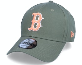 Boston Red Sox League Essential 9FORTY Olive/Peach Adjustable - New Era