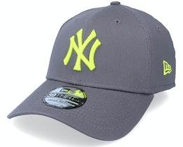 New York Yankees League Essential 39THIRTY Grey/Neon Yellow Flexfit - New Era